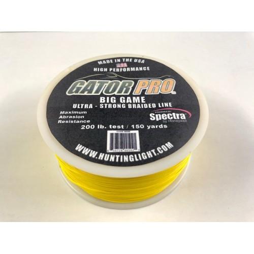 GATOR PRO  200# test Ultra small/Abrasion Resistant Braid 150 Yards